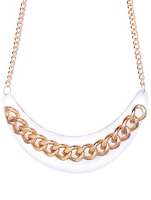 Elegant White & Golden Necklace - CIRCUZZ
