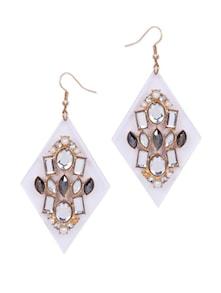 Designer White & Gold Earrings - CIRCUZZ