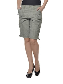 Gracious Grey Cotton Shorts - La Rochelle