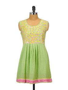 Gorgeous Green And Yellow Kurta - Glam And Luxe