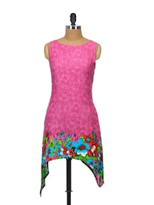 Fit And Flair Pink Kurta - Glam And Luxe