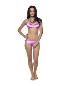 Striped Pink-White Bikini - Holidae