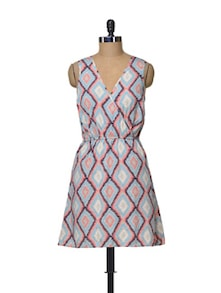 Printed Wrap Dress - La Zoire