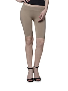 Nude Thigh Shaping Knee Length Leggings - Cloe