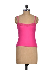 Hot Pink Thermal Camisole - Cloe