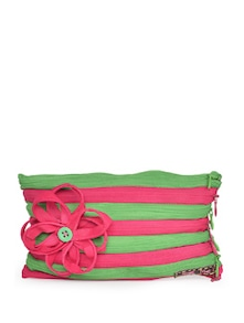 Striped Floral Pouch - Use Me