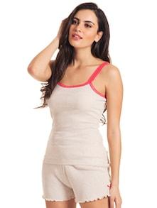 Lacy Sleepwear In Beige - Slumber Jill