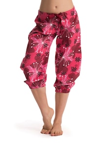 Hot Pink Floral Cropped Pajama - PrettySecrets