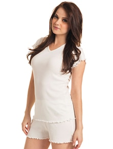 Soothing White Cotton Tee - Slumber Jill