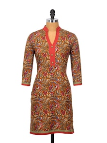 Multicoloured Floral Kurta - Sohniye