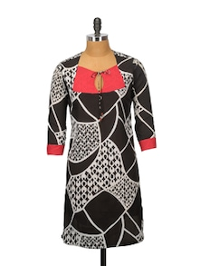 Super Black Cotton Kurta - Sohniye