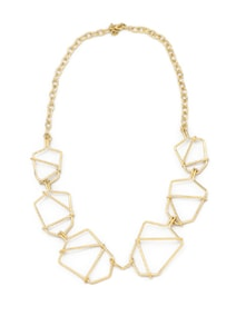 Geometric Gold Chain Necklace - Accessory Bug