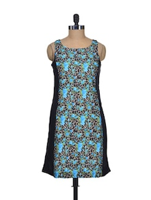 Print Play Blue Dress - Shimaya