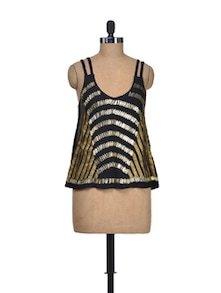 Gold Rush Fashionable Top - Shimaya