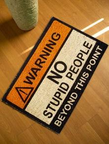 Quirky Warning Floor Mat - Mats Matter