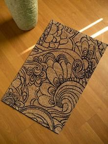 Elegant Black Floor Mat - Mats Matter