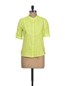 Lemon Grass Cotton Shirt - Silk Weavers