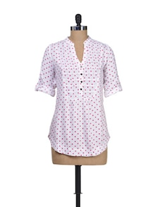Polka Play Viscose Top - Silk Weavers