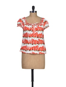 Spicy Sassy Polyester Top - Silk Weavers