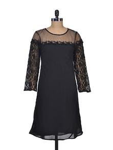 Lace Love Black Dress - Silk Weavers