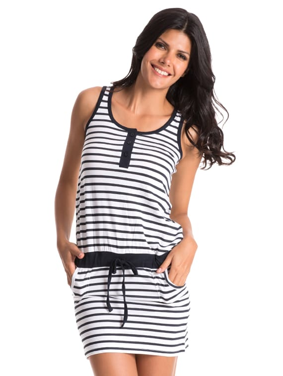 Striped Sensation Night Dress - Slumber Jill