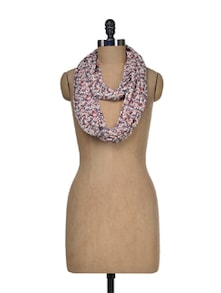 Floral Print Cotton Snood - I AM FOR YOU