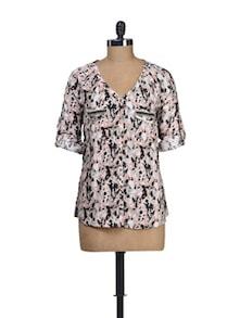 Printed Playful Twill Shirt - Dame