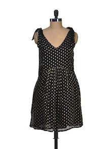 Black Polka Dots Dress - Dame