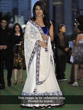 White Net Saree With Embroidery - Istyledeals