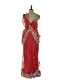 Red Hot Bollywood Saree - Istyledeals