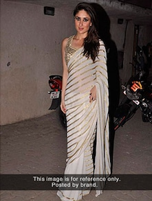 Beautiful White Saree - Istyledeals