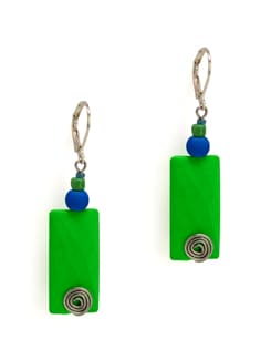 Fresh Green And Blue Earrings - Eesha Zaveri; Jewellery By Design