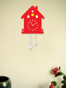 Blacksmith Red Sweet Home Pendulum Clock - BLACKSMITH