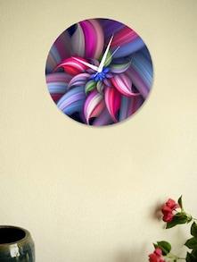 Multicoloured Flower Wall Clock - BLACKSMITH