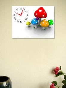 Multicoloured Mushrooms Wall Clock - BLACKSMITH