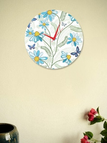 Beautiful Flowers And Butterflies Wall Clock - BLACKSMITH