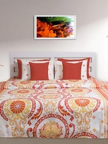 Rust & Mustard Printed Double Comforter - HOUSE THIS