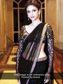 Black And Bold Net Saree - ROOP KASHISH