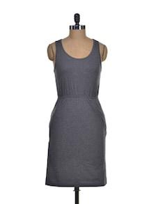 Sleeveless Charcoal Grey Dress - Femella