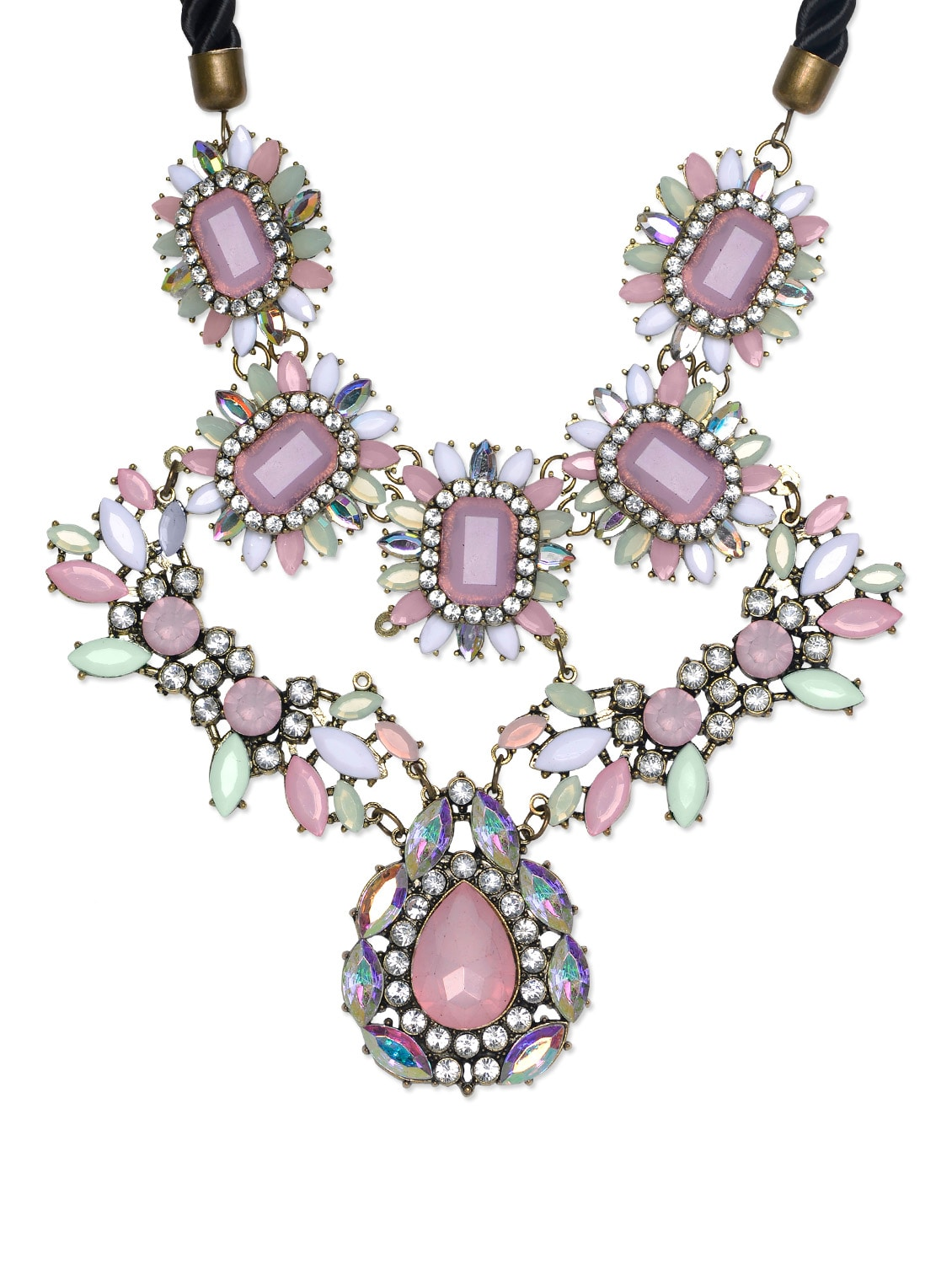 Artistic Necklace In Pink-White - STREET 9