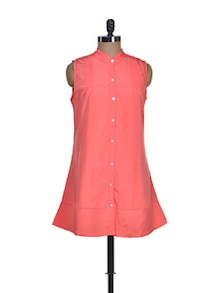 Pink Shirt With Collar - Tapyti