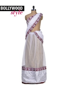 Elegant White Lehenga Saree - Get Style At Home