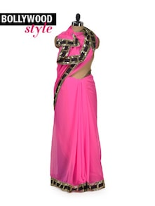 Statement Pink Saree - Get Style At Home