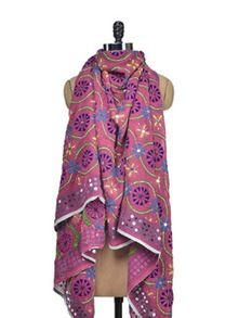 Enchanting Pink Phulkari Dupatta - Vayana