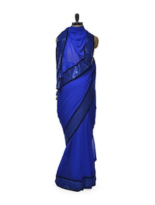 Blue Beauty Georgette Saree - Istyledeals