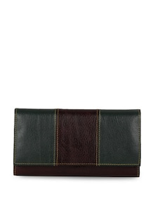 Green And Brown Leather Wallet - Oleva