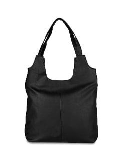 Slouchy Black Handbag - ALESSIA 6694