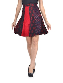 Printed Flare Skirt - Desiweaves