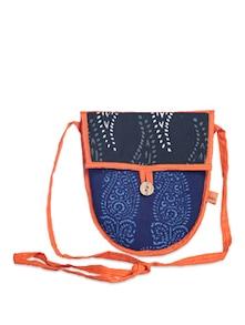 Ethnic Blue Sling Bag - Desiweaves