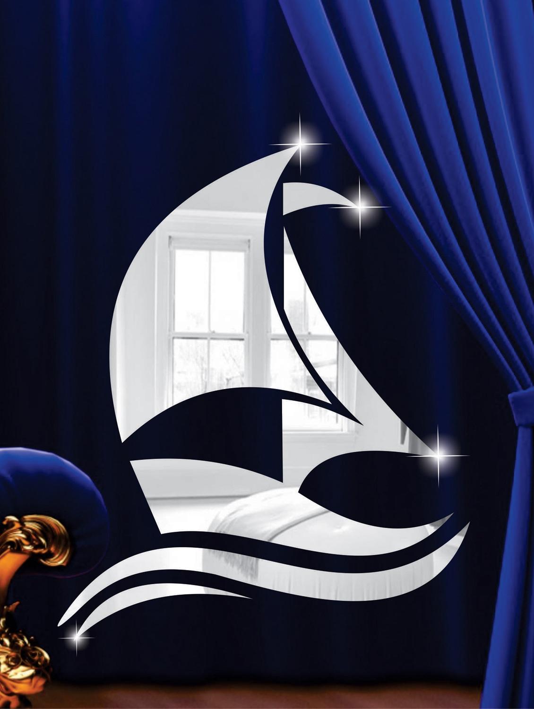Sailing Boat 3D Mirror Sticker - Zeeshaan